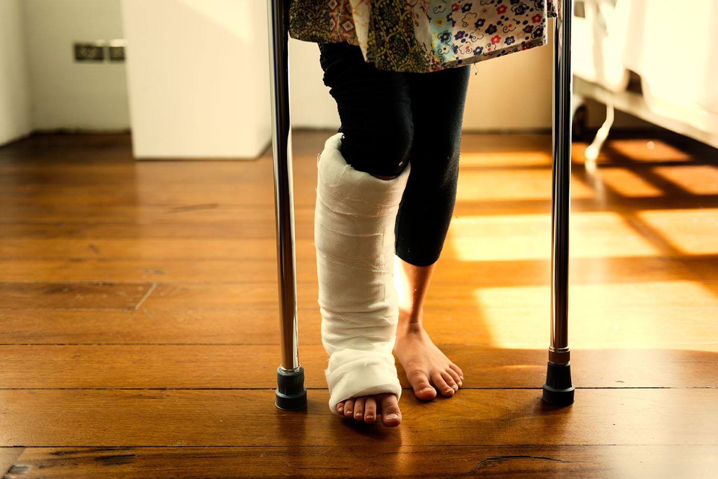 Die Hausfeen Beinverletzung