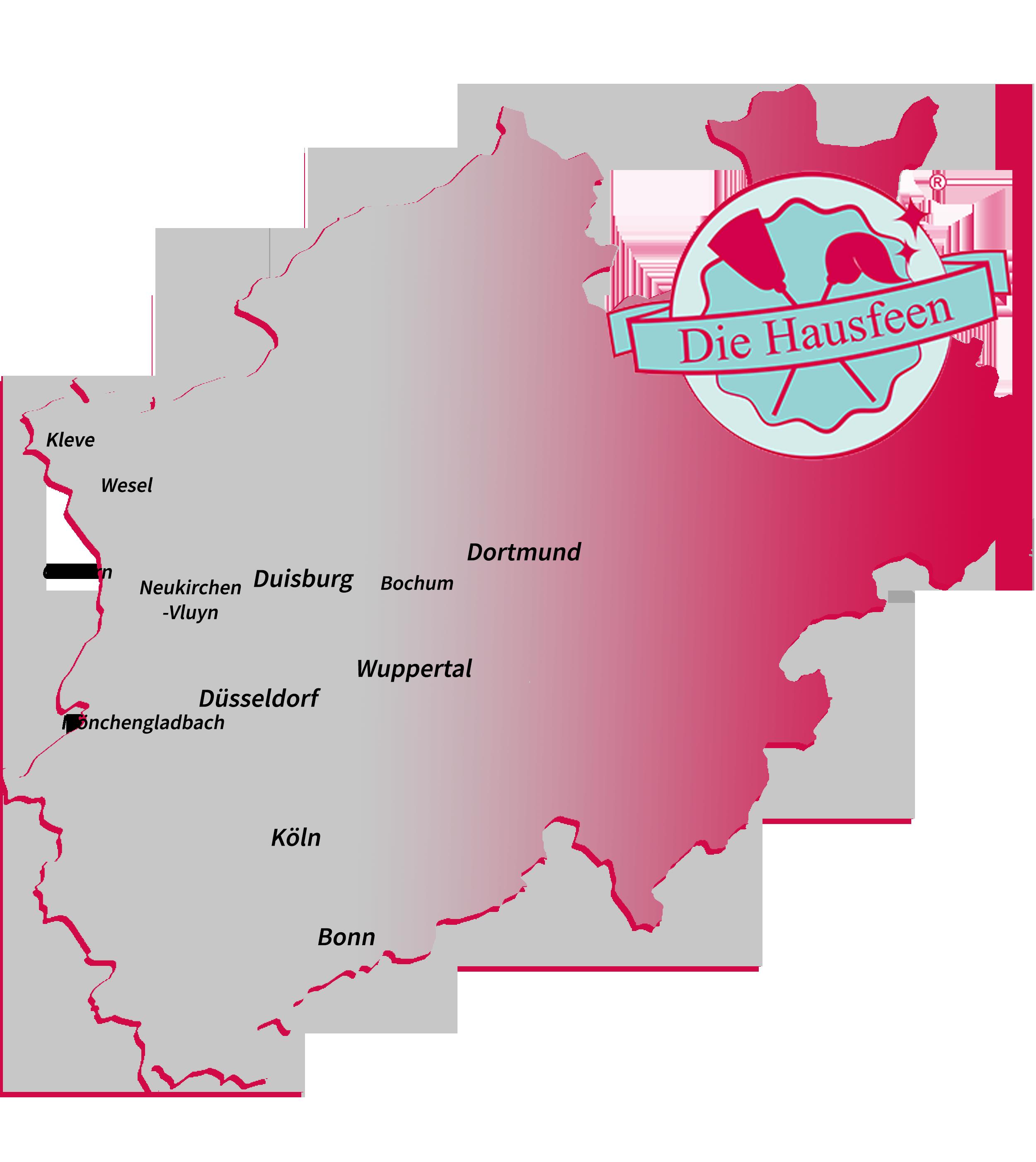 Die Hausfeen Einsatzort NRW Karte
